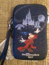 Disney-Parks Mickey Mouse Cell Phone Case Zip-Wrist Strap NWT Fantasmic 2017