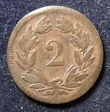 2 Rappen 1851 A Schweiz KM#4.2