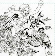 Bernard Chang - Supergirl 57 page 6-7 - Double Page Splash