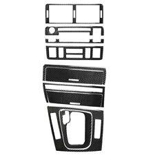 8x/Set Carbon Fiber Gear Shift Central Control Trim for 3 Series BMW E46 98-06