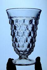 Fostoria AMERICAN 5 3/4 inch FOOTED ICE TEA tumbler glass CUBE 2056