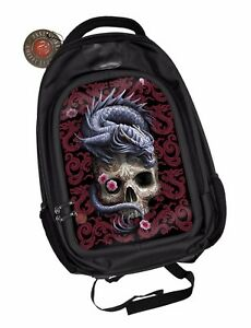Anne Stokes Official 3D Unisex Backpack Oriental Dragon School Padded Laptop