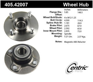 Wheel Bearing and Hub Assembly-Premium Hubs Rear Centric 405.42007