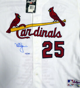 Mark McGwire Autographed Majestic Jersey Stats LE /25 Steiner & MLB MT00463260