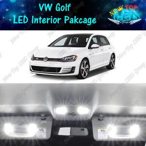 CANBUS White Interior LED Lights Package For 2010-2017 Volkswagen GTi GOLF MK6