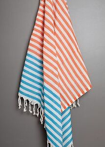 Stripe Turkish Towel 100% Cotton Peshtemal Fouta Hammam Beach Bath Towel