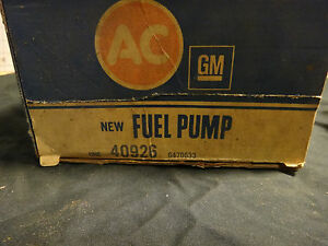 NOS GM AC 40926 Fuel Pump Buick 350 V8 Skylark LeSabre Apollo Jeep 68-74