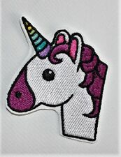 Unicorn emoji embroidered patch. - Iron-on - Free Shipping