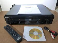 New listing Sony Rcd-W10 Dual-Deck Cd Recorder (Cd-R & Cd-Rw) w/ Remote, Discs & Manual