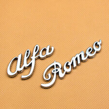 Silver Metal Alfa Romeo Letter Badge Emblem Car Logo Sticker 3D Chrome Decal