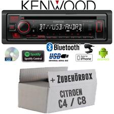 Kenwood Autoradio für Citroen C4 C8 Bluetooth Spotify CD/MP3/USB Einbauzubehör