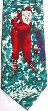 """Tango Men's Novelty Silk Tie 57.5"""" X 4"""" """"Fore"""" Santa Circa 1930"""