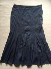 M&S Indigo Classic Blue Denim Jeans Maxi Full Length Panelled Skirt Size 14