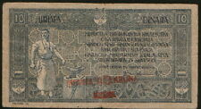 Kingdom of Serbian, Croats and Slovens 10 Dinars 1919. P-17. F/VF