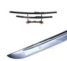 Full Tang Japanese Katana Wakizashi Handmade Sword Set w/ Musashi Tsuba & Stand