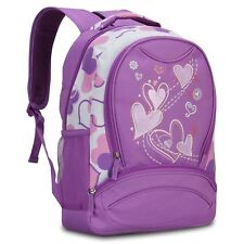 Sweetheart Pattern Kids Backpack Hynes Eagle Purple School Bookbag for Girl Gift