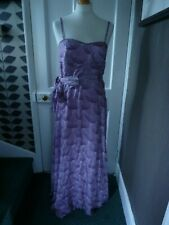 HOLLY WILLOUGHBY UK 12 PURPLE POLYESTER LINED MAXI/LONG DRESS
