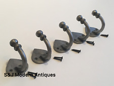 Single Coat Hook Iron Antique Modern Spearhead Vintage Black Grey Hat Rack Set 5