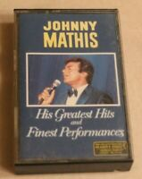 Johnny Mathis Cassette Tape His Greatest Hits and Finest Performances