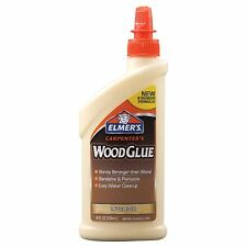 ELMER'S E7010 CARPENTER'S WOOD GLUE, INTERIOR 8 OUNCES