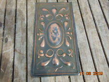 """ART NOUVEAU COPPER PANEL FROM OLD SIDEBOARD 13"""" X 7"""""""