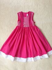 Mom & Me Girls Pink Floral sz 7 Sleeveless Smocked Dress Flowers 100% Cotton Z58