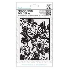 DOCRAFTS XCUT A6 BUTTERFLY MEADOW EMBOSSING FOLDER - NEW JULY 2017