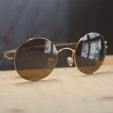 ed36dac021e Vintage round Titanium Lightweight Sunglasses retro women mens brown  sunglasses