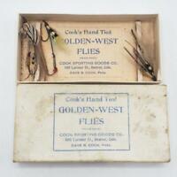 Vintage Cook's Golden West Denver Colorado Fly Fishing Flies Lot Hand Tied