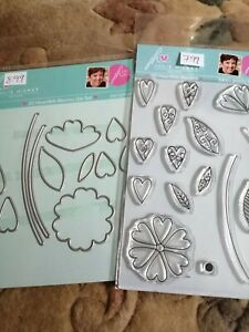 Julie Hickey co ordinating clear stamp and die set, new, floral