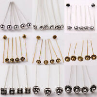 Wholesale 20/100Pcs Golden/Silver Plated Alloy Head Ball Pins Jewelry Findings