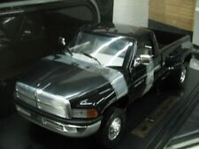 WOW EXTREMELY RARE Dodge Ram 3500 V10 1995 Dually Pickup Truck Black 1:18 Anson