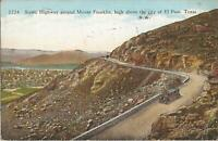 El Paso, TEXAS - Highway Around Mount Franklin - 1939 - old car