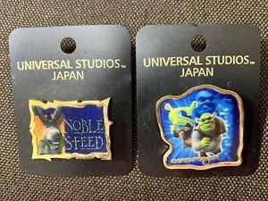 Shrek Donkey Pins Set (2pins) UNIVERSAL STUDIOS JAPAN Limited USJ 3D