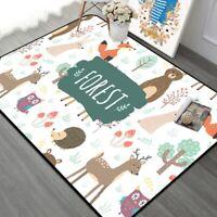 Forest Children Carpet Nordic Style Kids Area Rugs for Living Room Children M4W7