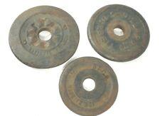3 VTG Barbell Cast Iron Weight Plates Billard, BFCO & National  12.5# Total