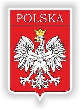 Polska Polen Wappen Aufkleber Auto Motorrad Autoaufkleber Helm Flagge naklejka