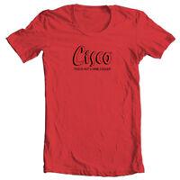 Cisco T-shirt Bum Wine retro 1980s cotton graphic malt liquor red tee shirt