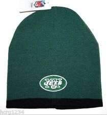 NEW YORK JETS NFL TEAM APPAREL CUFFLESS FOOTBALL KNIT WINTER HAT/BEANIE/TOQUE