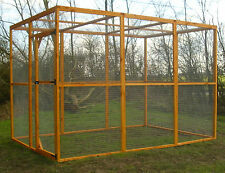 6' x 9' CATTERY CAT RUN. SMALL DOG. CHICKENS POULTRY. complete enclosure 6' tall