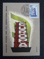 FRANCE MK 1956 EUROPA CEPT MAXIMUMKARTE CARTE MAXIMUM CARD MC CM c700