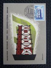 France MK 1956 Europe CEPT maximum Carte CARTE MAXIMUM CARD MC cm c700