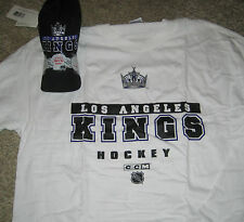 NWT CCM NHL HOCKEY LOS ANGELES KINGS SHORT SLEEVE SHIRT AND HAT COMBO SZ X LARGE