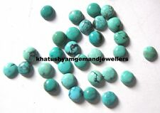 AAA Quality 15 Piece Natural Turquoise 5x5 MM Round Loose Cabochon Gemstone