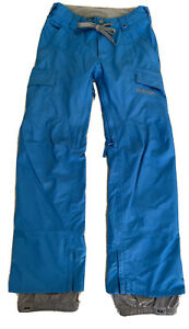 Burton The White Collection Chittagong Dryride Snowboard Pants Women's XS Blue