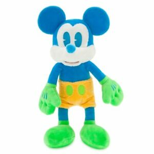 """DisneyParks EXCLUSIVE EDITION Mickey Mouse Neon Colorful Plush 12"""" -  NEW & RARE"""
