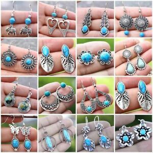 Bohemian Women Turquoise Earring Ear Stud Drop Dangle Party Beach Jewelry Gifts