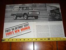 1966 FORD BRONCO  ORIGINAL ARTICLE
