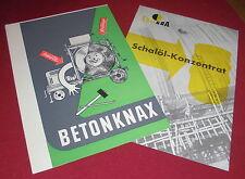 falt blatt prospekt betonknax i collgra chemie alt 1960/70er reklame werbung
