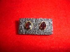 14K Yellow Gold Garnet Amethyst Red Purple Earrings 10K Posts Vintage Antique ?
